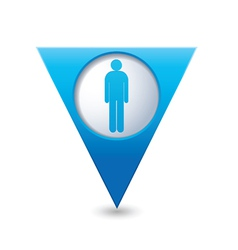 Man BLUE triangular map pointer vector