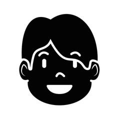Man profile cartoon vector