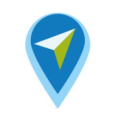 Map pointer app vector