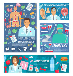 medical clinic services hospital doctors staff vector image