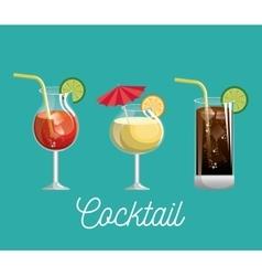 menu cocktails list bar vector image