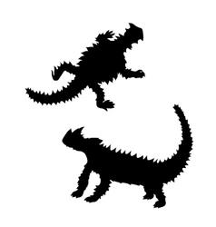 Moloch silhouettes vector image