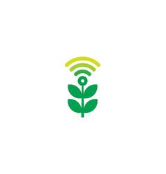 Nature wifi logo icon design vector