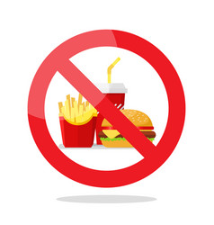 No food symbol vector