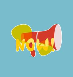 Now sticker social media network message badges vector