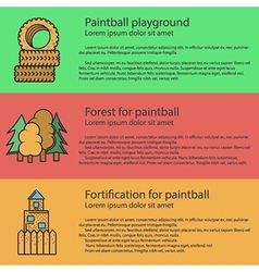 Paintball playground flat color vector image