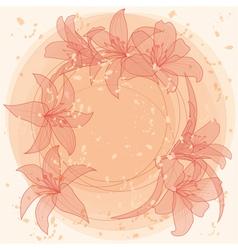 Pastel lilies vector