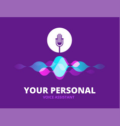 personal voice assistant sound recognition vector image