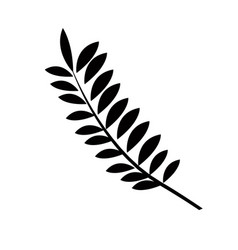 Pictogram branch plant natural design vector