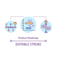 Product roadmap concept icon vector