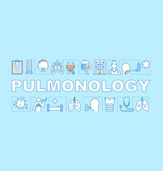 Pulmonology word concepts banner vector