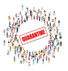 quarantine people danger stop sign stop spread vector image