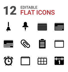 reminder icons vector image