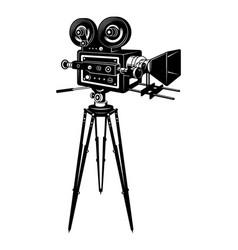 retro movie camera concept vector image