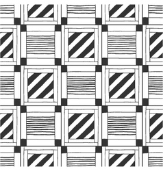 Seamless black and white abstract pattern vector