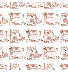 Seamless pattern with a drum and a tear-off vector