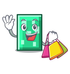 Shopping rectangle character cartoon style vector