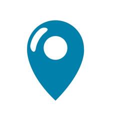 Silhouette location symbol to destination vector
