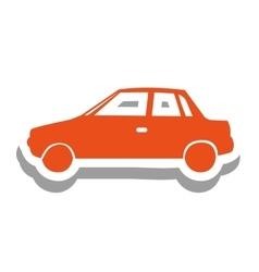 Simple car pictogram icon image vector