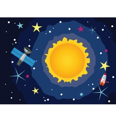 Sun in the Space vector image