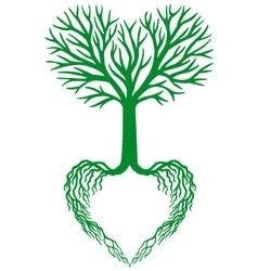 Tree life green heart tree vector