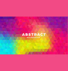 triangle polygonal abstract background colorful vector image