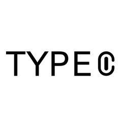Usb type c universal compact port connector logo vector