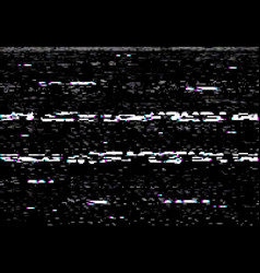 Vhs video screen with glitch effect distortion vector