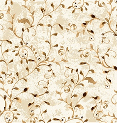 vintage seamless texture with foliate ornament vector image