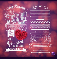 We are getting married stationery image vector