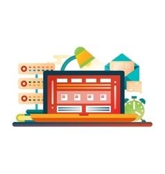 Work Place - flat design website banner vector image