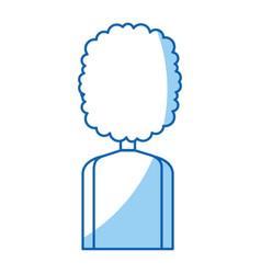 Young back man avatar character vector
