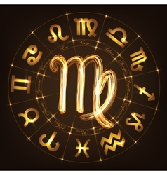 Zodiac sign Virgo vector