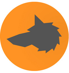head wolf sign - vector image