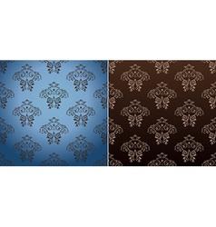 seamless wallpaper set curves vintage background vector image vector image