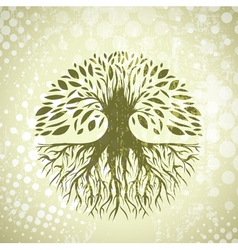 Vintage Tree Background vector image vector image