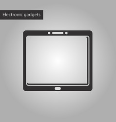Black and white style icon tablet gadget vector