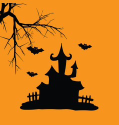 house hallowen vector image
