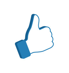 like symbol social media icon thumb up vector image vector image