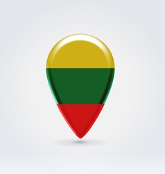 Lithuanian icon point for map vector image vector image