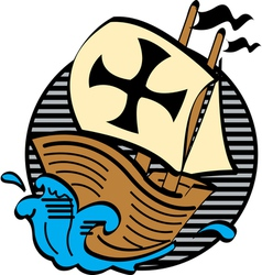 Mayflower boat vector image vector image