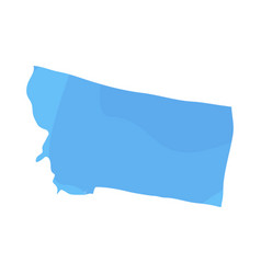 political map of the state of montana vector image