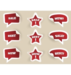 Red Labels New best and sale vector image vector image