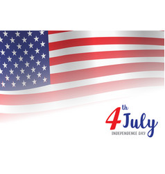 american independence day of 4th july vector image vector image