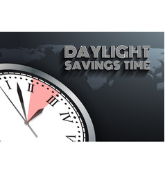 banner for daylight saving time vector image