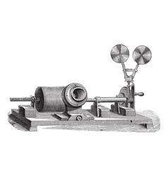 gramophone vintage engraving vector image