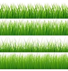 Green seamless grass set vector image