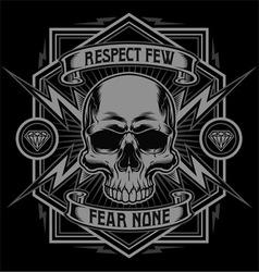 Respect skull lightning graphic vector image vector image