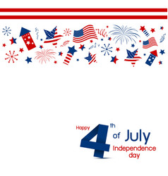 usa 4 of july happy independence day design vector image vector image