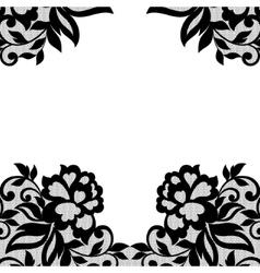 Black flower lace ornament vector image